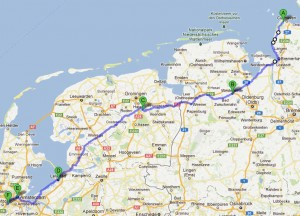 Liegeradtour 2012 neue Route